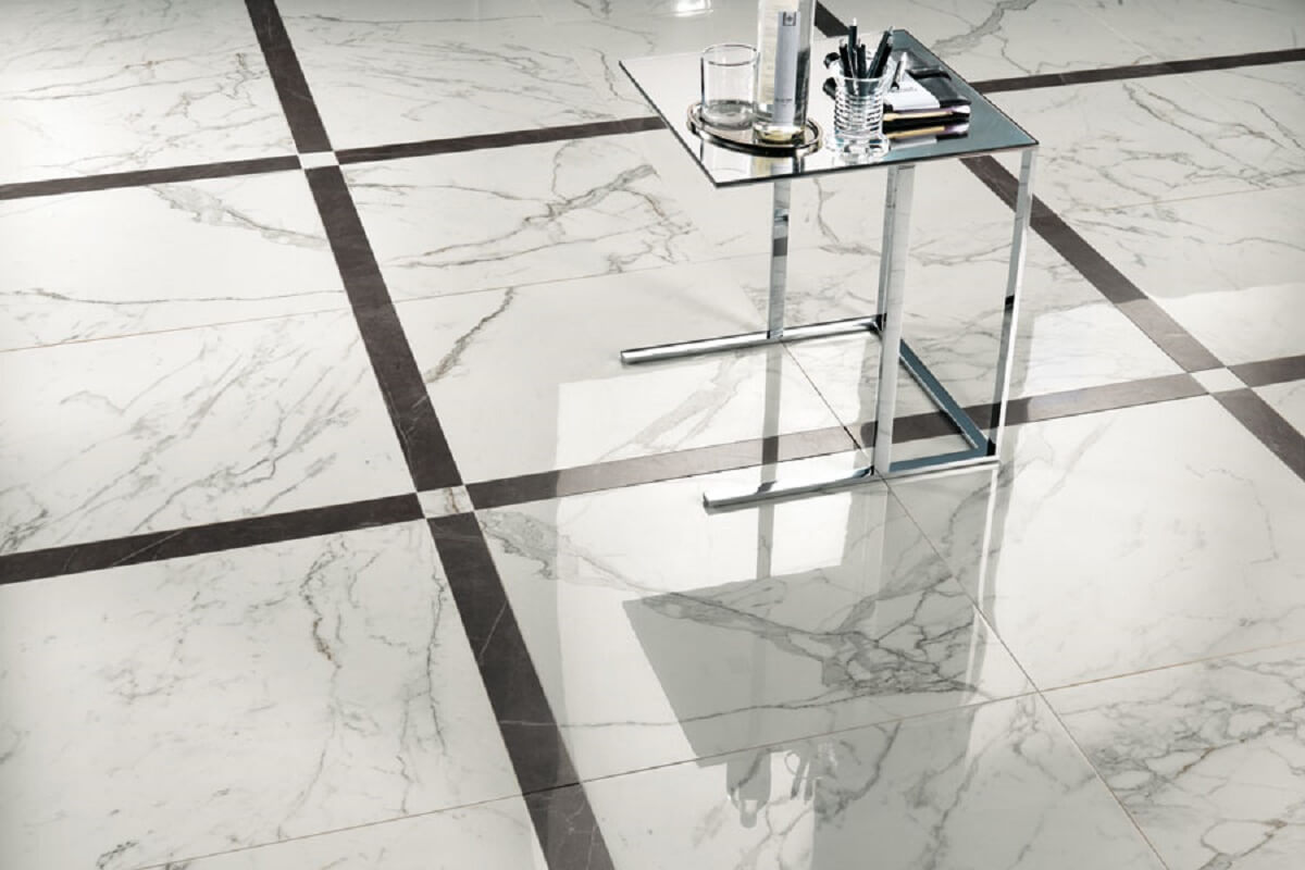 Marble looking ceramic tile